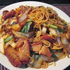 Stir Fry BBQ Pork Noodles