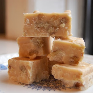 Eggnog Fudge with White Chocolate and Walnuts