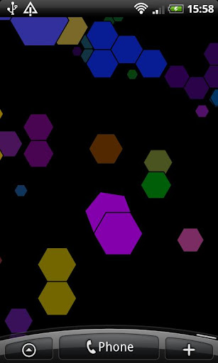 Hexagons Free Live Wallpaper