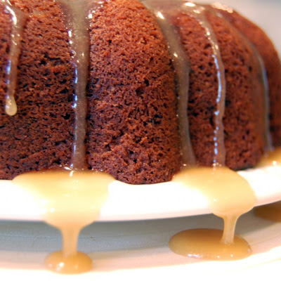 Old Fashioned Spice Cake with Caramel Glaze