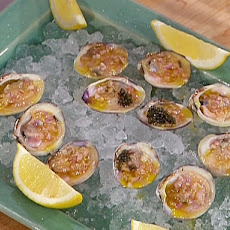 Little Neck Clams on the Half Shell with Champagne-Caviar Mignonette