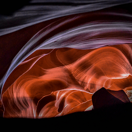 whispering by Darren Sutherland - Abstract Light Painting ( trip 2014, antalope can yon )