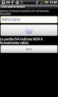Screenshot of Check ITALIAN VAT NUMBER