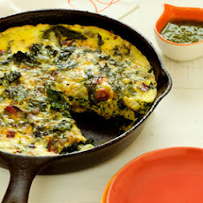 Frittata with Ricotta and Mixed Greens