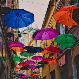 Colori in città...!! by Stefania Loriga - City,  Street & Park  Street Scenes