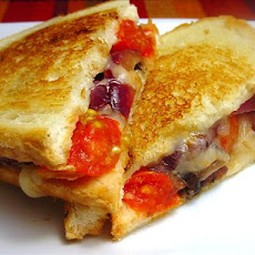 Bada Bing Betty's Tuscan Portobello Melt (Grilled Cheese Sandwic