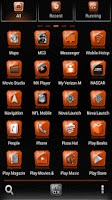 Screenshot of Slick Launcher Theme Orange