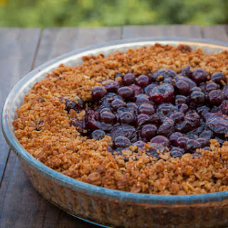 Cherry Blueberry Oat Cookie Pie Crisp