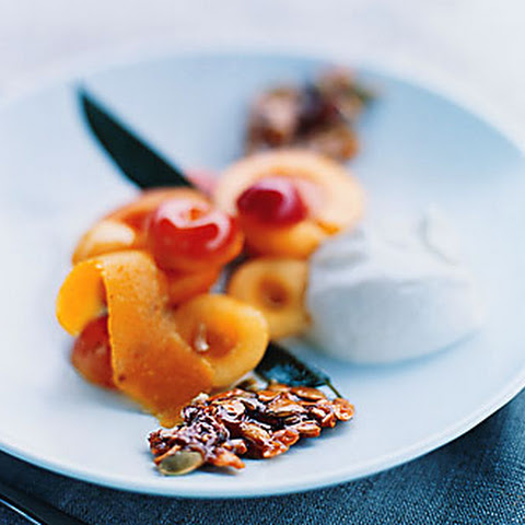 Cherry-Apricot Yogurt Sundaes