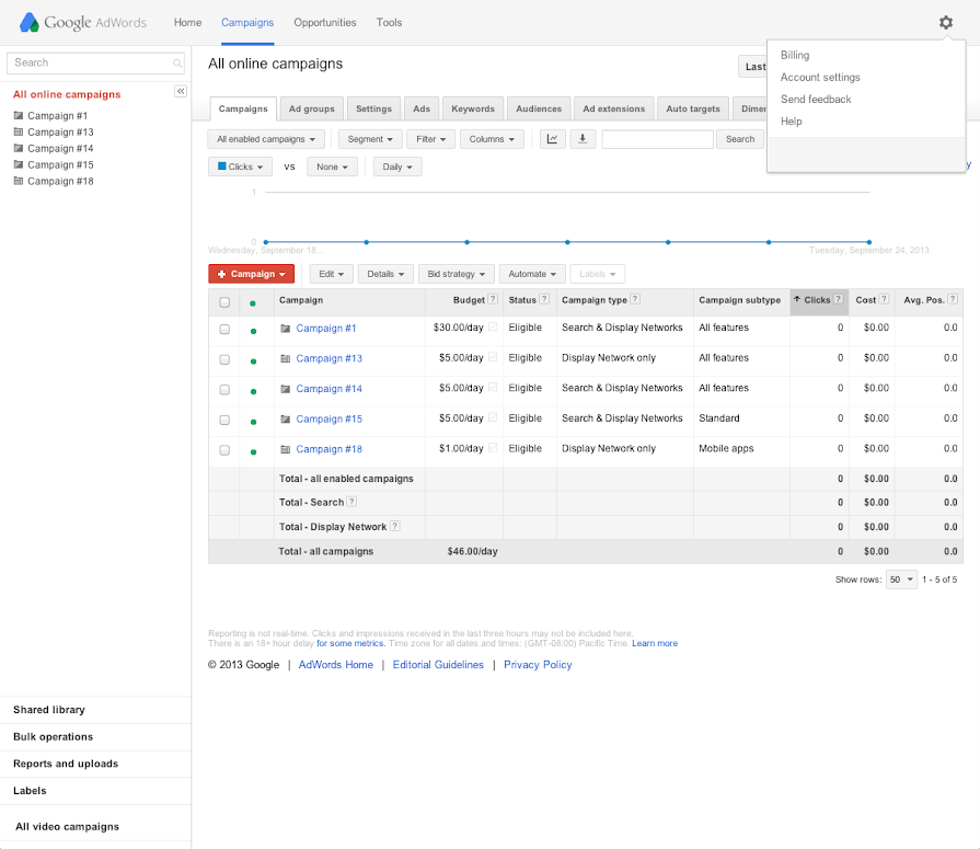 Get an invoice or payment receipt - AdWords Help