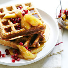 Whole-Wheat Waffles with Spiced Fall Fruit