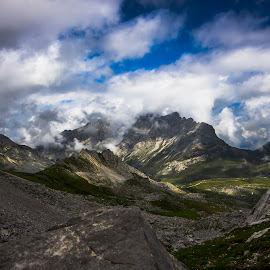 Head in the Clouds 7 by Ian Thompson - Landscapes Mountains & Hills ( nobody, walking, mountain, altitude, landscape, spain, inspiring, hill walking, sky, no people, cloudy, light, clouds, hill, awe, picturesque, picos de europa, mood, scenic, national park, cloud, moody, cantabria, tranquility, stunning )