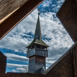 Old church by Calin Precup - Buildings & Architecture Places of Worship ( maramures, steeple, wooden church, church, old church, romania )