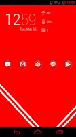 Screenshot of Circons Red Icon Pack