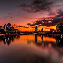 River Liffy Dublin, Ireland by Alnor Prieto - Landscapes Sunsets & Sunrises