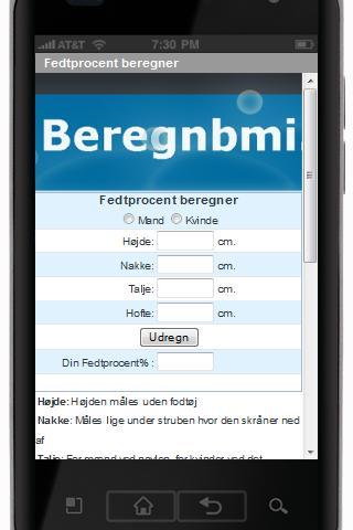 【免費健康App】Sundheds app bmi, fedtprocent-APP點子