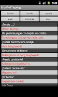 Screenshot of Spanish Tagalog Dictionary