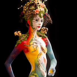 A Living Garden by Marie Otero - People Body Art/Tattoos ( model, nature, female, body art, livingartamerica.com, garden, body paint )