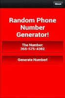 Screenshot of Random Phone Number Generator