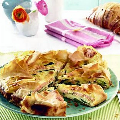 Zalm-courgette Quiche
