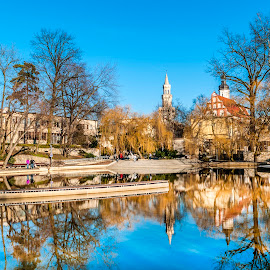 old castle park in Opole by Woocash New - City,  Street & Park  City Parks ( lake park castle historical public )