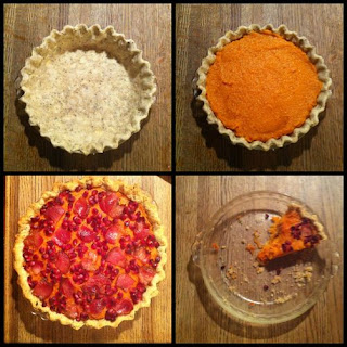 Savory Sweet Potato Pie with Bacon and Pomegranate