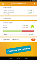 Screenshot of Gérer mes comptes