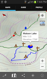 Guthook's Tahoe Rim Trail - screenshot