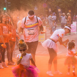 Orange Gate by Tudor Migia - News & Events World Events ( orange, bucharest, the colorrun, color, runners,  )