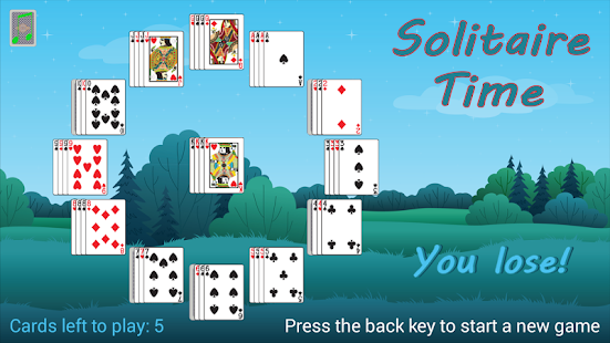 how to play patience card game clock