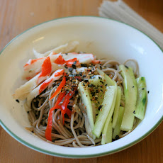 Cold Soba Noodle Salad With Cucumber and Shiitake