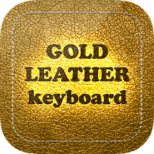 Gold Leather Keyboard