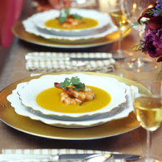 Butternut Squash Soup with Star Anise and Ginger Shrimp