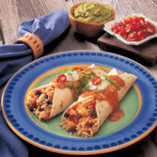 Double Cheddar & Chicken Burritos