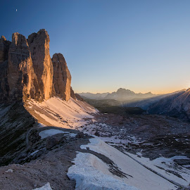 Sunset over Tre Cime by Razvan Iliescu - Landscapes Sunsets & Sunrises (  )