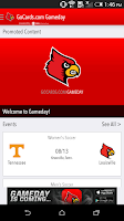 Screenshot of GoCards.com Gameday LIVE