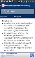 Screenshot of Dictionary - Merriam-Webster