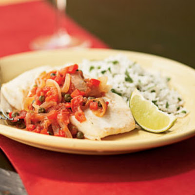 Halibut with Caper Sauce