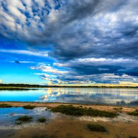 Gun Nuur lake Mongolia by Borjigon Bayasal - Landscapes Beaches