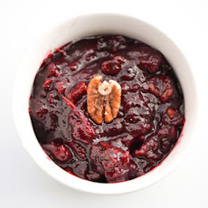 Cranberry Sauce with Candied Pecans