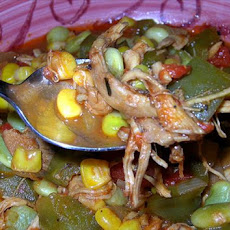 Chicken, Corn and Lima Bean Stew