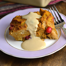 Pumpkin-Cranberry Bread Pudding