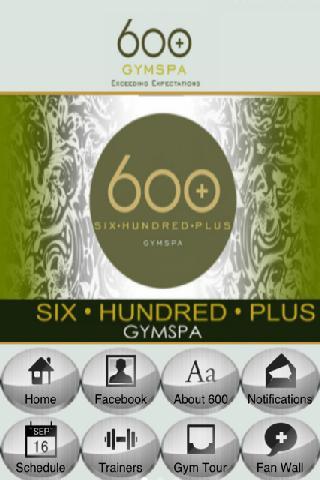 600 + Gym Spa