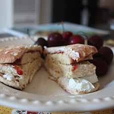 Tempeh, Goat Cheese and Raspberry Jam Sandwich