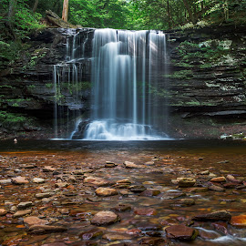 Rickett's Glen by Jeb Buchman - Landscapes Waterscapes ( stream, waterscape, waterfall, pond, river )
