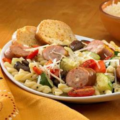 Johnsonville® Three Cheese Oven-Roasted Pasta Primavera