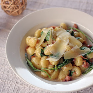Creamy Bacon and Spinach Gnocchi