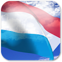 3D Luxembourg Flag + icon