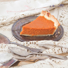 Carrot Honey Pie with Five Spice