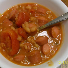 Very Simple Hot Dog Soup